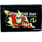 Disney Incredibles Authentic Licensed Canvas Trifold Black Wallet for Children
