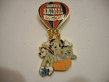 Disney's Animal Kingdom Stitch Mickey and Goofy In A Hot Air Balloon Dangle Pin
