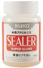PADICO Acrylic Varnish Super Gloss for Cray Wood Paper 100ml, 3.38 fl oz.
