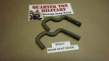 Jeep Willys M38A1 Rear seat hooks pair  Correct US Made G758