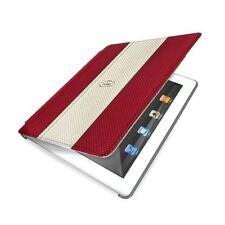 Etui iPad 2 ou 3 Simili cuir Rouge avec couvercle Magnétique Auto On/Off