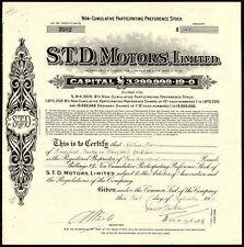 S.T.D. Motors LTD, non cumulatif participant PREF. actions, 1933