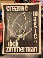 CREATIVE MAGIC Dick Zimmerman Magician 1973 - Self Published Rope Trick Coin