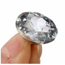 50pcs Crystal Diamond Rhinestone Round Buttons Upholstery Headboard Sofa Cl B0K2