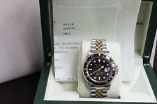 ROLEX GMT MASTER II 16713 18K YELLOW GOLD & STAINLESS STEEL