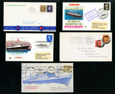 Worldwide Covers w/Stamps 8x Ocean Liners on High Seas