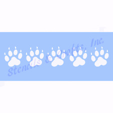 "2"" PAW PRINT STENCIL BORDER ANIMAL CRAFT STENCILS PAWS TEMPLATE PAINTS ART NEW"