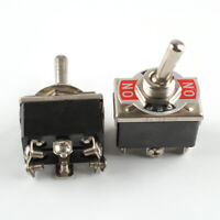 2pcs 20A 125V Car Boat Heavy Duty Toggle Switch DPDT On-Off-On Switch 6 Terminal