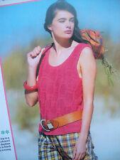 """Wendy Knitting Pattern 5327 Vest Strappy Top Textured 32-40/"""" Cotton DK Ladies"""