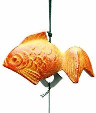 Orange Goldfish Iron Japanese Wind Chime Made in Japan S-4613