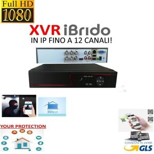DVR NVR 4 AHD Canali 3.0 MP 1080P WIFI IP Onvif P2P 5 IN 1 XMEYE IBRIDO FULLHD