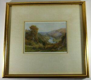 Original print 'Scenes along the Wye' by Sutton Palmer Huntslam Loop Symonds Yat
