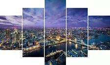 Huge Extra Large 5 Piece Set London City Tower Bridge Canvas Pictures Wall Art
