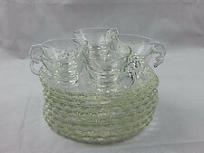 16 Pcs Orchard Crystal Embassy Snack Set 8 Plates & 8 Cups - 8 Pcs Boxed