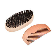 Men's boar bristle beard brush and comb beard comb grooming kit brush+com UK