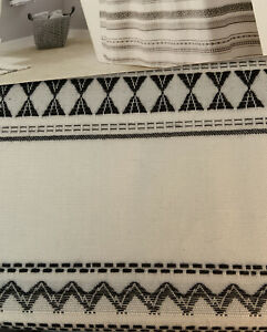 SKL Home by Saturday Knight Ltd.Geo Black Stripe Shower Curtain New