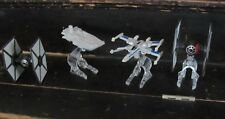 Star Wars Force Awakens Black series lot of 4 Titanium vehicles Tie X-WIng
