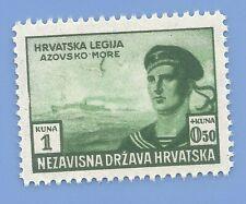 Croatia Germany Third Reich Nazi Axis 1943 Legion Soldiers 1+050 Stamp MNH WW2
