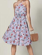 VENUS Women's Multicolor Floral Print Midi Dress Smocked Waist Size MEDIUM