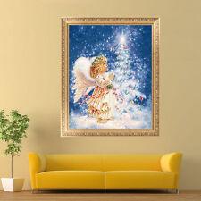 Angel Girl&Xmas Tree Embroidery 5D Diamond Painting DIY Cross Stitch Home Decor