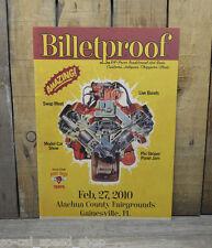 BILLETPROOF FLORIDA RAT HOT ROD CAR SHOW POSTER 2010 HEMI V8 CUSTOM GARAGE ART
