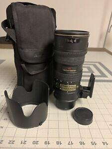 Nikon AF-S Nikkor 70-200mm f2.8 G ED VR Zoom Lens W/ Case, Caps, Hood