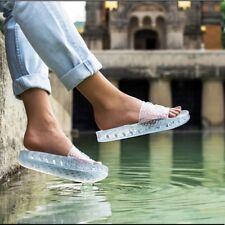 PUMA Fenty by Rihanna Women's Jelly Slides Sandals Shoes Size 12 Blue NEW