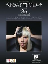 Cheap Thrills Sheet Music Piano Vocal Book Sean Paul Sia NEW 000194013