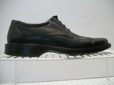 Men's Bostonian Black Leather Oxfords Square/Bicycle Toes Size 10M