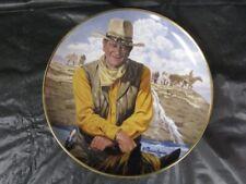 "Franklin Mint - "" Rugged Horseman "" John Wayne Plate"