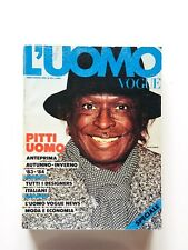 L'uomo Vogue 132 luglio agosto 1983 Miles Davis David Bowie Jean Luc Godard