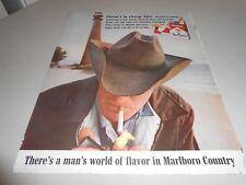1963 Marlboro Cigarettes Full Page Color Ad Saturday Evening Post Magazine
