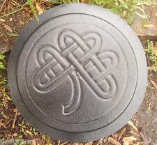 Plaster,concrete mold celtic knot shamrock stepping stone plastic mould