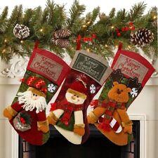 "1PCS 18"" Christmas Stocking Classic Personalized Large Stockings Santa, Snowman"