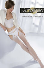 Integrated stockings suspender set Bridal White Hosiery Wedding sexy Retro S M L