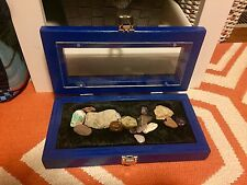 Rock, gem, shell, & artifact display case for any age!!! Custom colored!!!