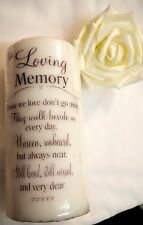 Personalised MEMORIAL CANDLE - Remembrance Candle - Bereavement Gift - Sympathy
