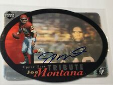 🔥 Joe Montana 1996 Upper Deck SPx Tribute Auto Autograph Kansas City Chiefs 🔥