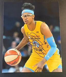 DIAMOND DESHIELDS Signed 8x10 Photo WNBA Basketball CHICAGO SKY COA Autograph