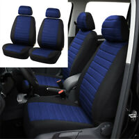 2PCS 5MM Foam Seat Covers Universal Interior Accessories Black & Blue Car SUV