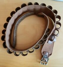 Vintage Brady 25 Round Leather 12 Bore / Gauge Shotgun Cartridge Belt