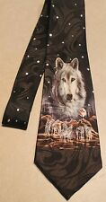 NWT Mens Wolves Howling WOLF Neck Black Neck Tie   Free shipping
