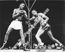 Sugar Ray Robinson vs Kid Gavilan Glossy 8x10 Black and White Boxing Fight Photo