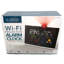 La Crosse Technology C82929 WiFi Projection Alarm Clock Black AccuWeather NEW