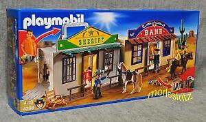 Playmobil 4398 Mitnehm-WESTERNCITY mit Bank und Sheriff´s Office Western Neu