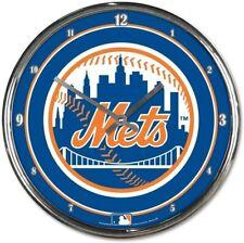 MLB New York Mets Ny Horloge Murale Mur Horloge Chrome Baseball