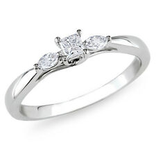 Solitaire Diamond Engagement Ring 14 Carat White Gold 1.00 Ct Princess Cut Ring