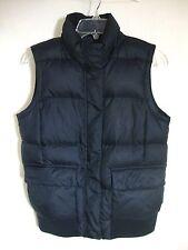 GAP Puffer Vest Black Sleeveless DOWN Ski Winter Full Zip Fleece Collar Small