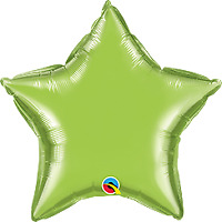"STAR LIME GREEN FOIL BALLOON 20"" BIRTHDAY PARTY SUPPLIES"