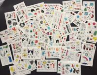 MIXED 15 X Kawaii Temporary Tattoos Stickers Fun Party Favour GiftLolly loot bag